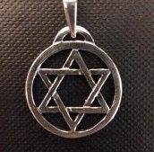 Wisior srebrny gwiazda Dawida