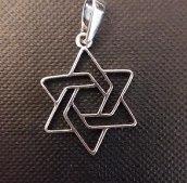 Wisior srebrny Gwiazda Dawida 2