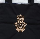 Torba bawełna lycra haft hamsa  40 cm x 40 cm