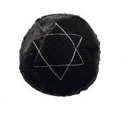 Kipa czarna aksamit - haft