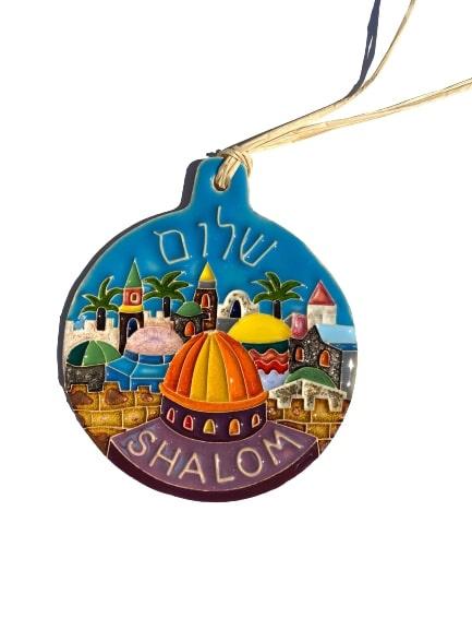 Ozdoba ceramiczn Shalom
